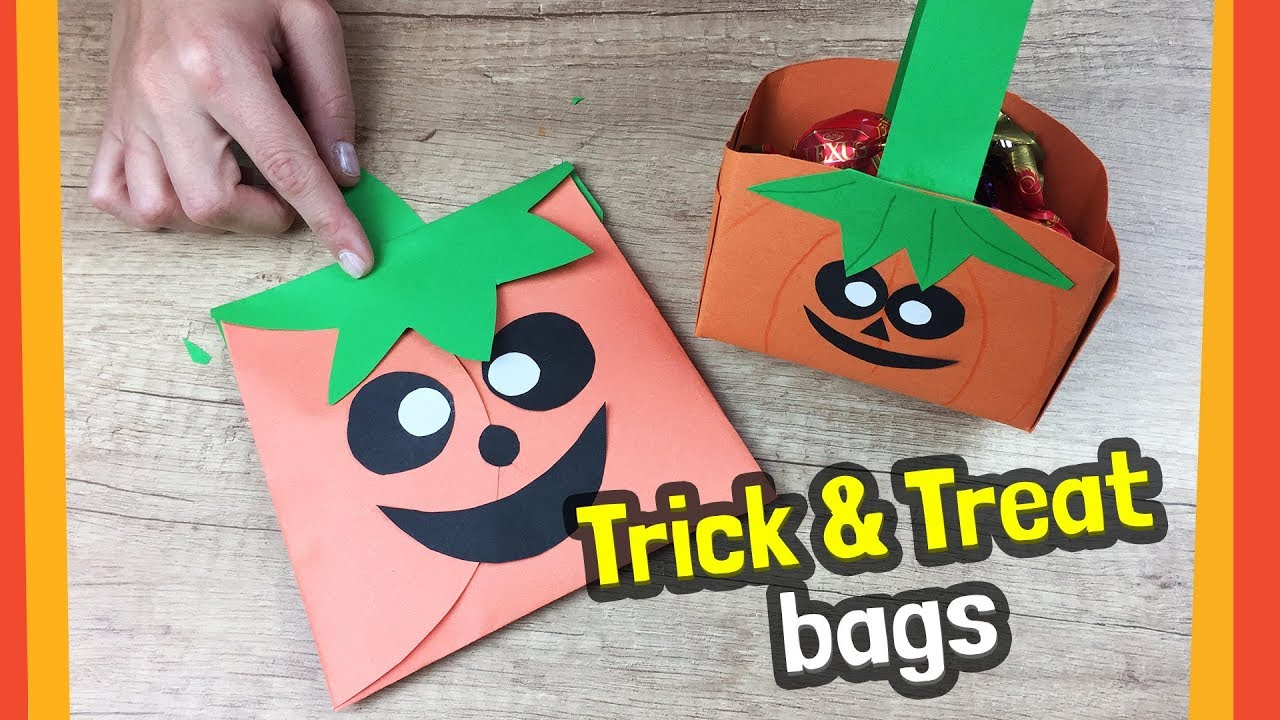Diy Halloween Trick Or Treat Bags.Diy For Halloween Trick Or Treat Bag