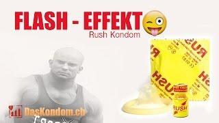 Kondom mit Flash Effekt zusammen mit Poppers
