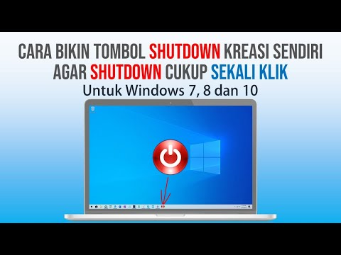 Shutdown Windows Cukup Sekali Klik dengan Tombol Buatan Sendiri