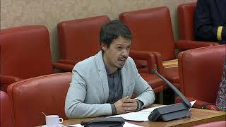 Segundo González en la Comisión de Presupuestos el 25 de octubre de 2018