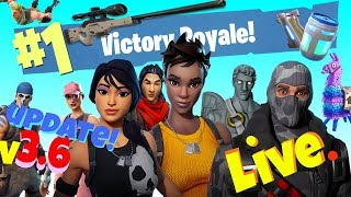 Fortnite Live - Update v3.6 50vs50 GAME MODE! 1000v Bucks Giveaway! 1k Abonnenten!
