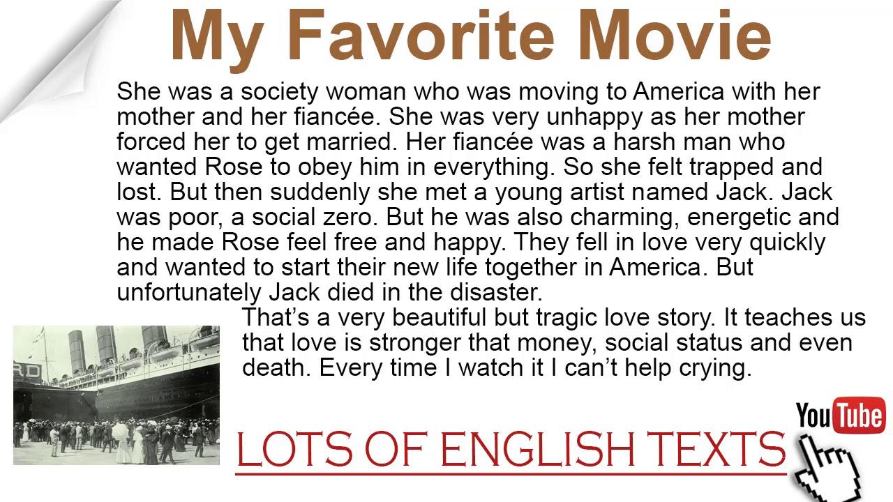 My favorite movie essay