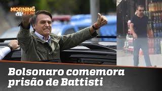 Bolsonaro comemora prisão de Cesare Battisti