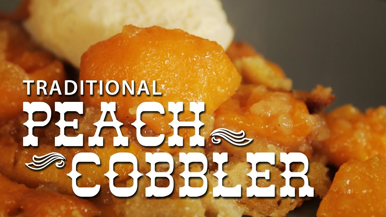 Peach Cobbler - Traditional recipe! Authentic dessert pudding from the ...