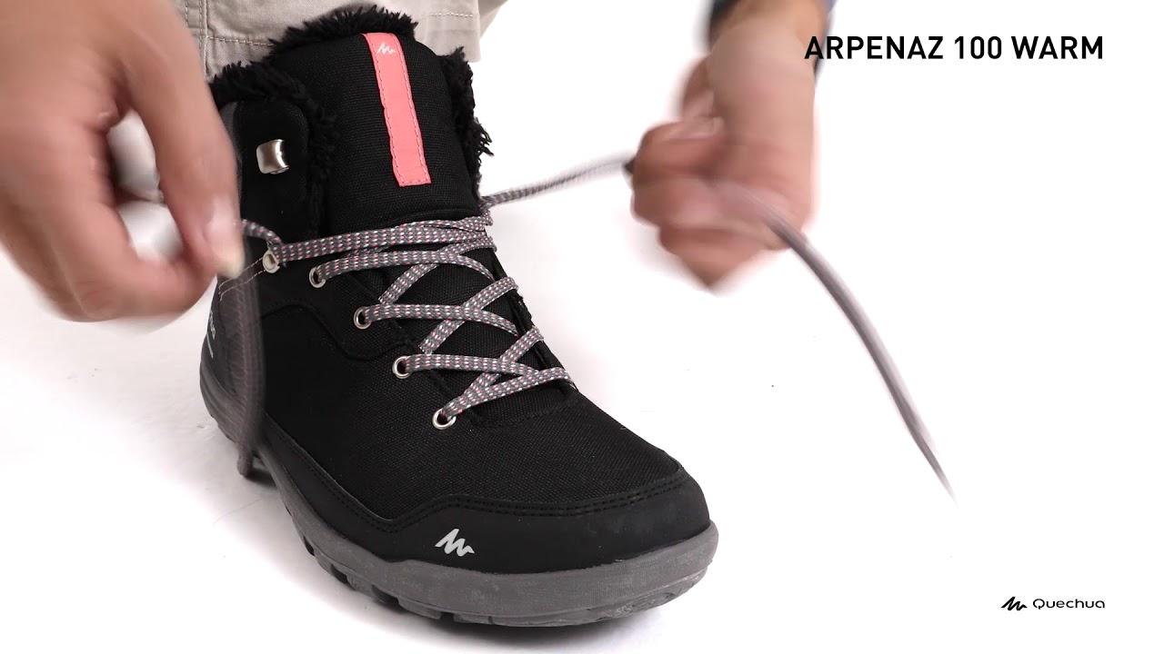 70ba7915b Calçado Feminino Impermeável Trilha SH100 Quechua - Exclusividade Decathlon