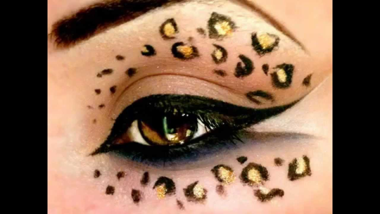 Leopard Print Make Up Tutorial Halloween Youtube