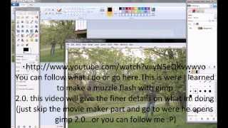 How to make a muzzle flash in Windows Live Movie Maker OFFICIAL HD