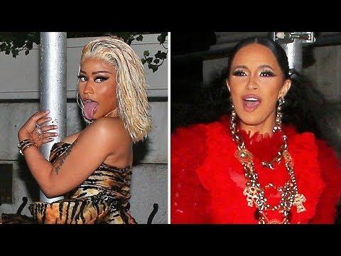 FIGHT NIGHT! Nicki Minaj And Cardi B Looked Ready To Rumble