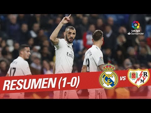 Resumen de Real Madrid vs Rayo Vallecano (1-0)