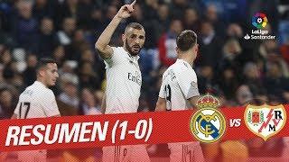 Resumen de Real Madrid vs Rayo Vallecano (1-0)