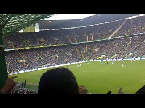 Celtic v Rangers 03/01/10 Rangers goal and the Bouncy and McGregors top class save