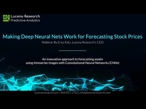 Webinar: How to Forecast Stock Prices Using Deep Neural Networks