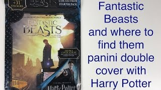 Fantastic Beasts and where to find them panini double cover with Harry Potter sticker album