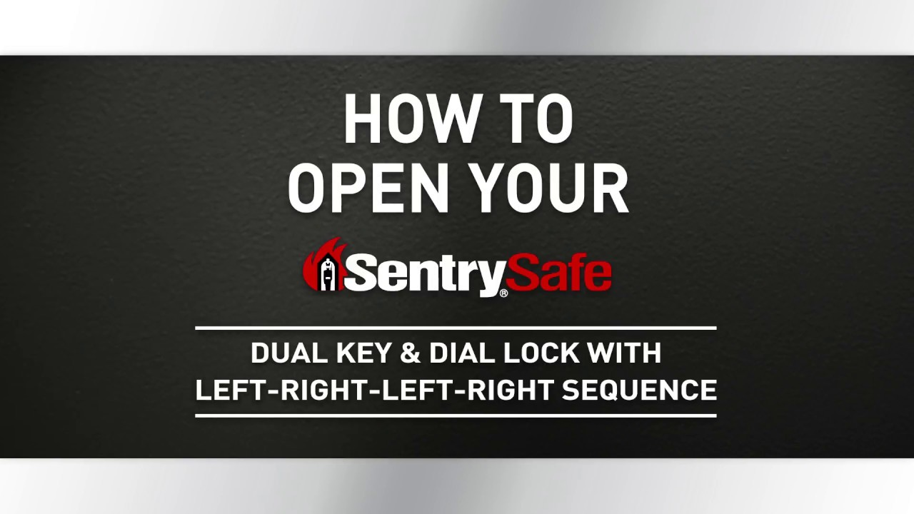 how to close a sentry safe without a key