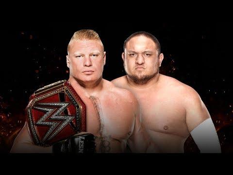 WWE 2K17 - Brock Lesnar vs Samoa Joe: WWE Universal Championship