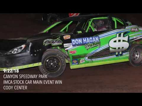 9/22/18 Canyon Speedway Park IMCA Stock Car Main Event Cody Center Win