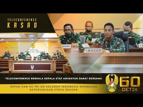 Teleconference Berkala Kasad Bersama RSPAD dan RS TNI AD Membahas Ketersediaan Stock Reagen