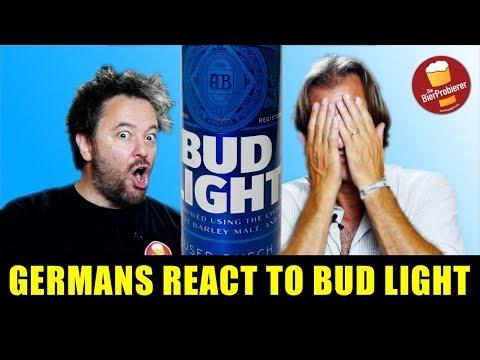 Germans react to BUD LIGHT |Beertest | engl.