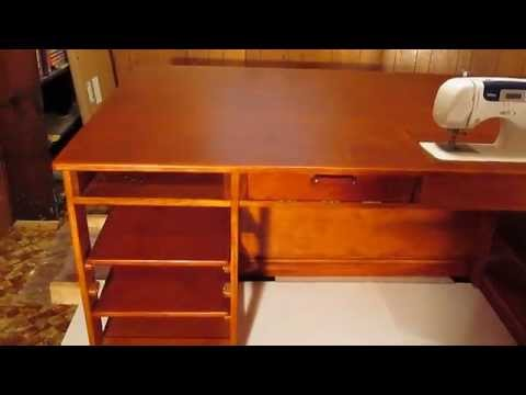 Quilt Table / Sewing Table - Part 1 of 2 - YouTube