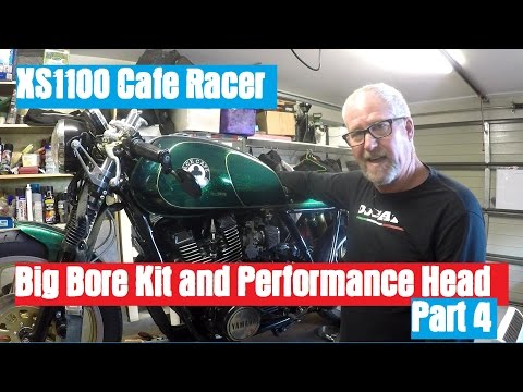XS1100 Cafe Racer - Fitting the Big Bore Kit and Performance Head Part 4