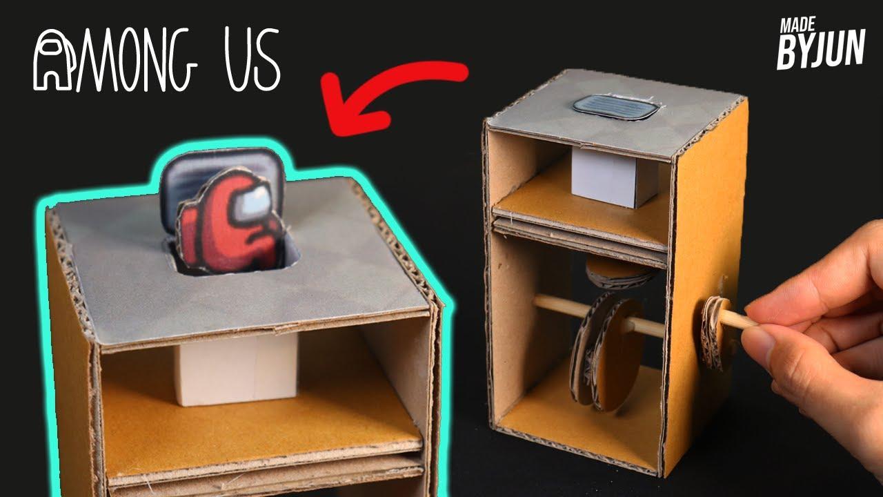박스로 만든 어몽어스 벤트쇼 오토마타 | 돌리면 자동으로 벤트쇼를 한다!? | Making Among us Automata with Cardboard
