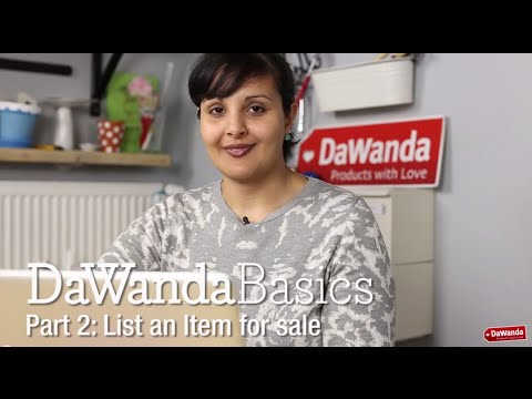 DaWanda Basics Part 2: List an Item