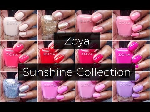 Zoya Sunshine Collection || Live Swatch & Review