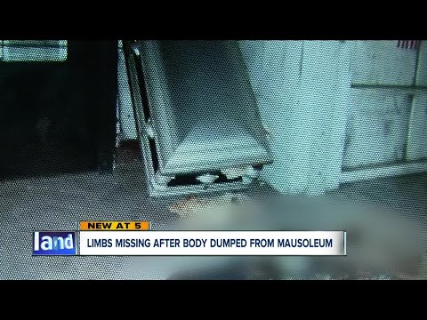 Police looking for suspect(s) who broke into Akron mausoleum, dumping remains out of casket