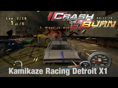 Crash 'N' Burn   Kamikaze Racing Detroit X1