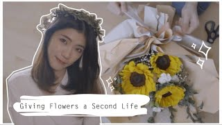 Giving Flowers a Second Life  给花朵第二次的生命 动手把鲜花变干花 DIY -Caroltsy