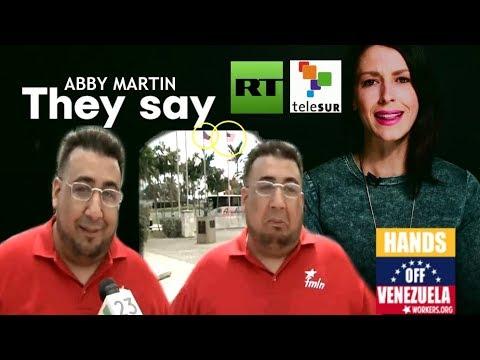 Abby Martin y un Cubano Castrista haciendo la Resistencia Revolucionaria desde Miami.