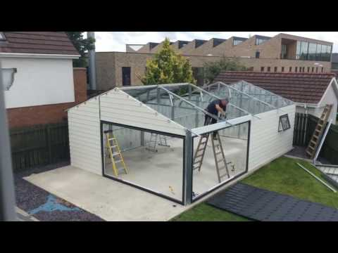 Steeltech Garden Room Built In 30 Seconds Youtube