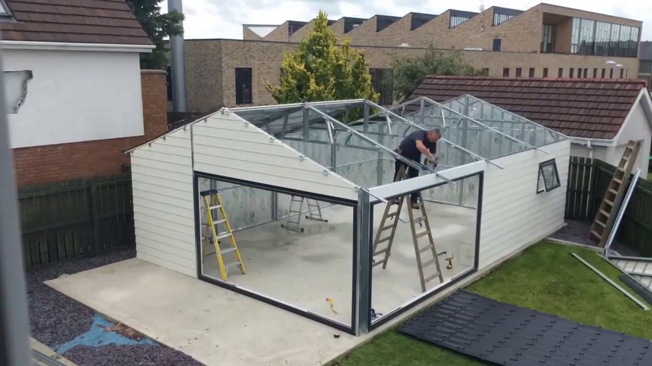 Steeltech Garden Room Built In 30 Seconds
