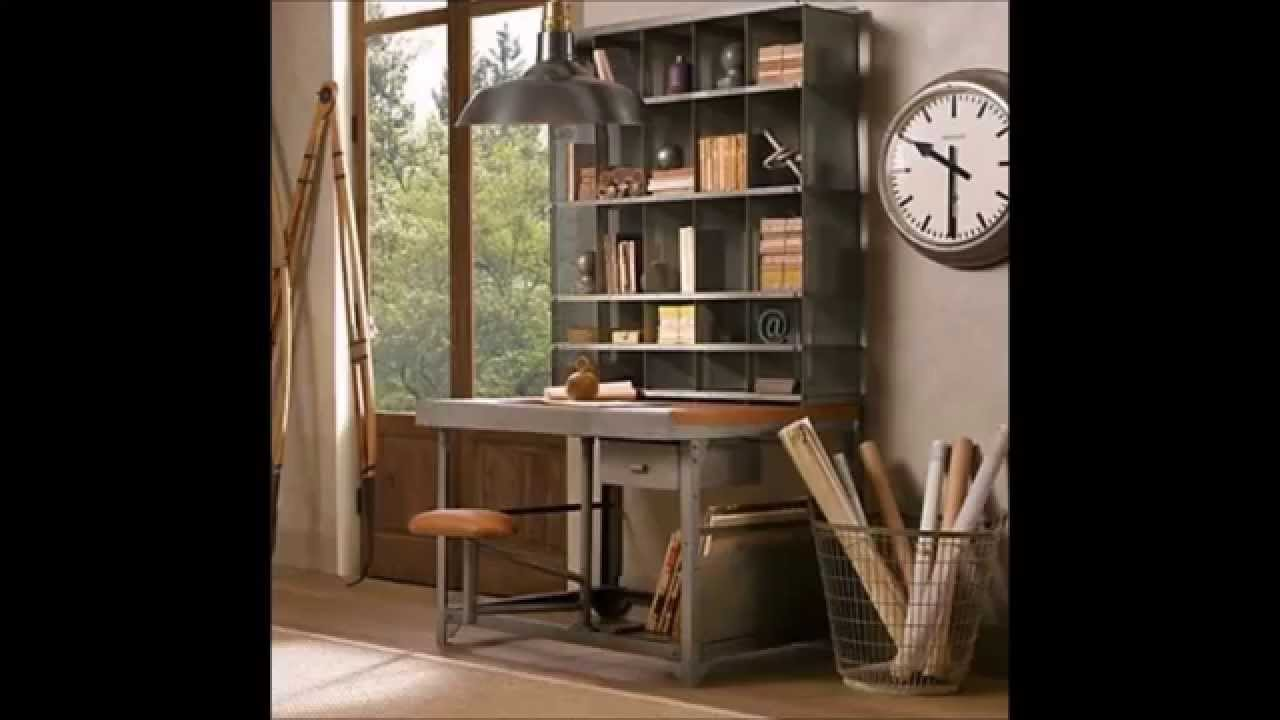 Ideas para decorar una oficina en casa con estilo retro y - Ideas para decorar una casa ...