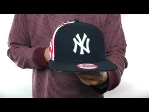 13a941f1dce Yankees  USA FLAG-SIDE SNAPBACK  Navy Hat by New Era - YouTube