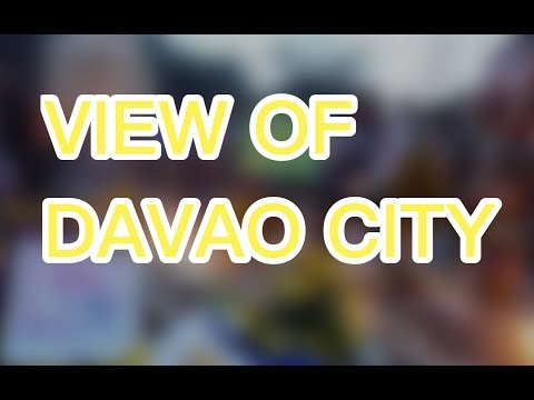 TOP VIEW OF DAVAO CITY  PHILIPPINES