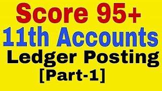 Ledger Posting Class 11th Accounts
