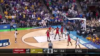 LSU's Tremont Waters Game Winning Layup vs Maryland March Madness
