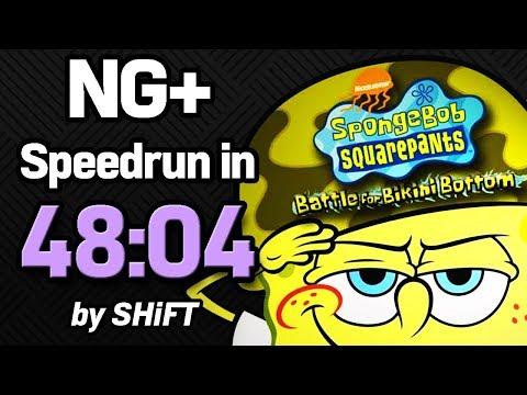 SpongeBob SquarePants: Battle for Bikini Bottom NG+ Speedrun in 48:04 (WR on 7/18/2018)