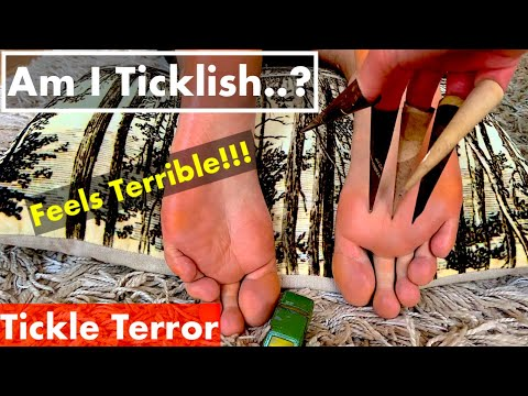 ASMR Feet Tickle Video - Tickle \u0026 Scratching the Foot With Tools - Good Sound and No Talking