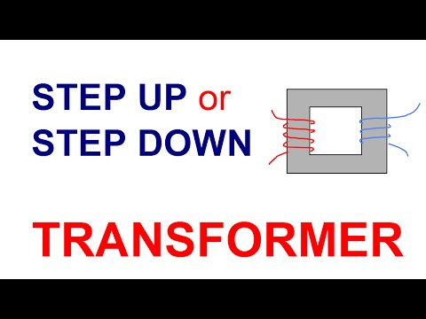 step up step down transformer calculations - YouTube