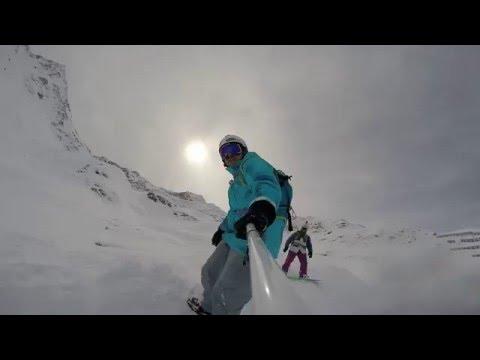 Backcountry cruising.  st anton am arlberg, austria
