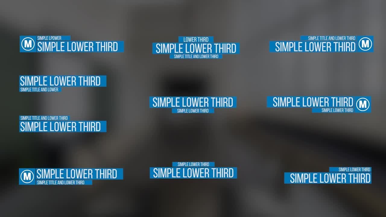 Simple Lower Thirds Premiere Pro Templates - YouTube