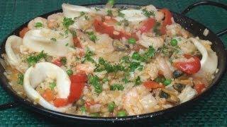 Simple Seafood Paella Recipe