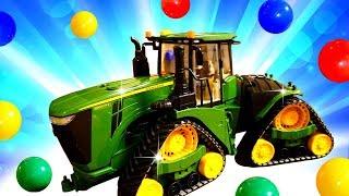 Die Helfer Autos - Wir packen den Traktor aus - Spielzeugvideo für Kinder