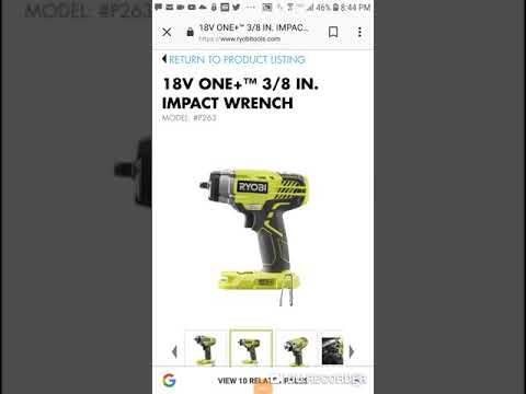 *New Ryobi 18v 3/8 in  Impact Wrench    Coming Soon !!!