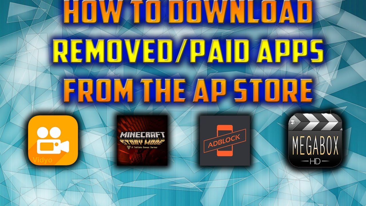 HOW TO GET REMOVED AND PAID APPS FROM THE APP STORE PERMANENTLY iOS 10 2  iPHONES, iPADS