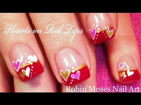 Easy Heart Nail Art For Beginners | Cute Valentine Nails Design