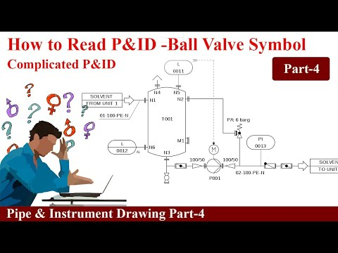 How To Read Pid Ball Valve Symbols Part4 Youtube