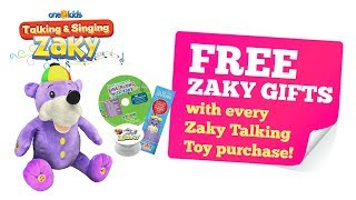 FREE ZAKY GIFTS with ZAKY TALKING TOY purchase!